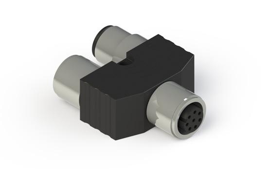 Y-образный разъем M12 без кабелей для последовательного подключения