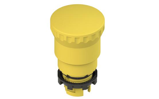 Грибовидная кнопка желтого цвета