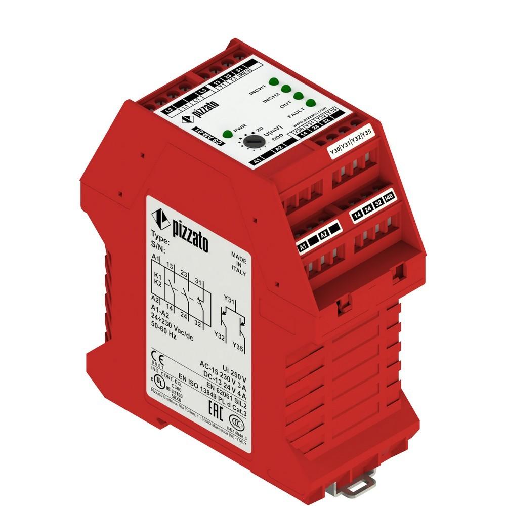 CS AM-01VE01 Pizzato Elettrica Защитный модуль мониторинга остановки 2НО + 1НЗ кат. 3