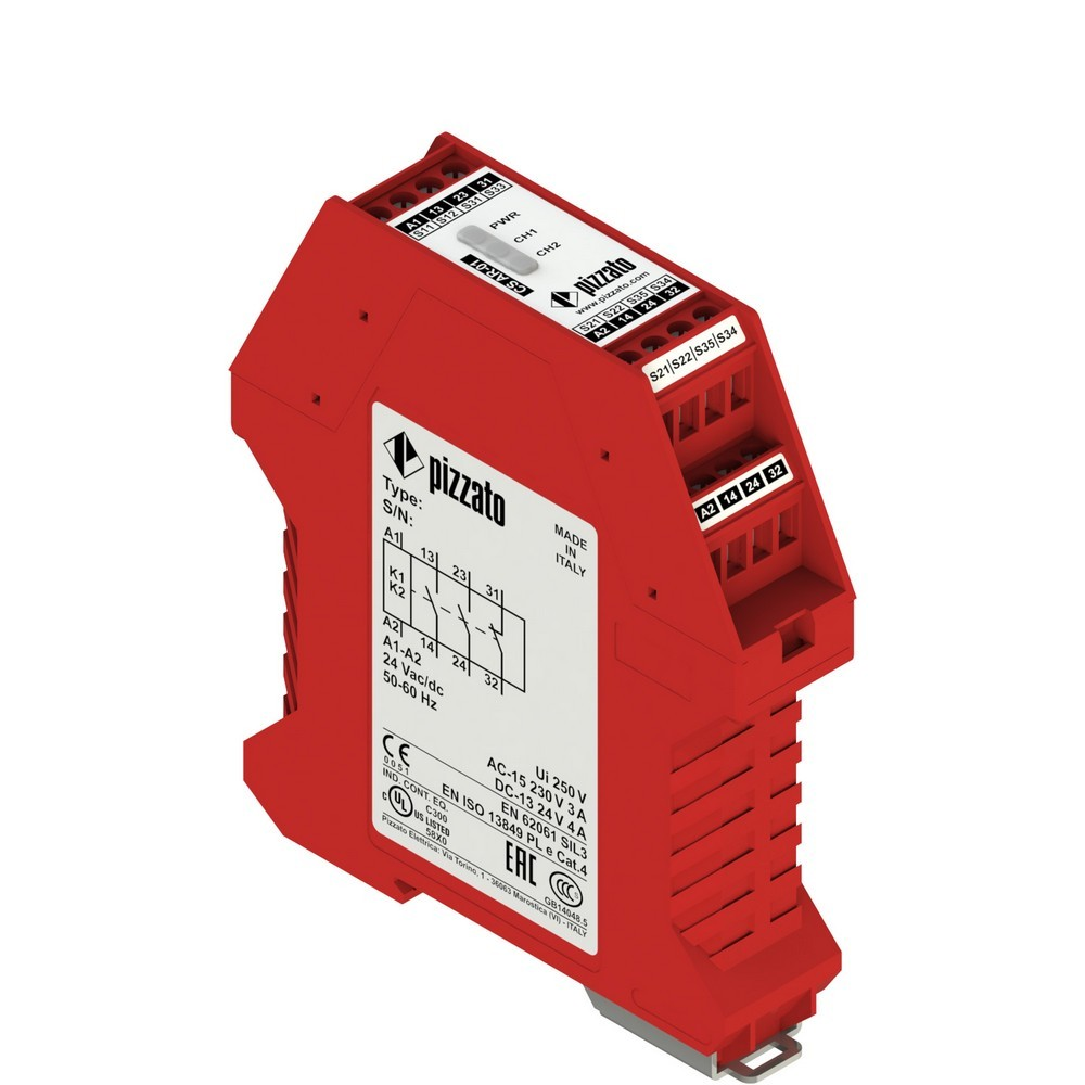 CS AR-01V230 Pizzato Elettrica Защитный модуль 2НО + 1НЗ, категория 4