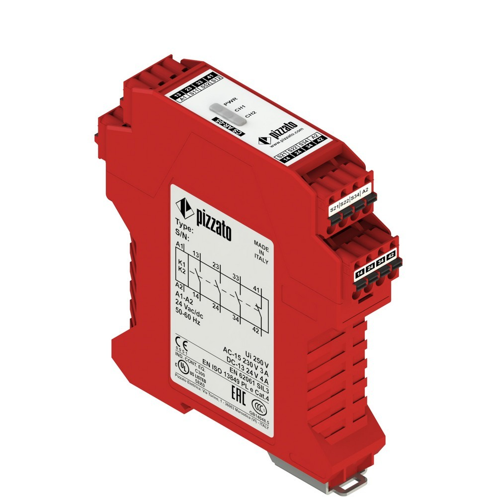 CS AR-05X024 Pizzato Elettrica Защитный модуль 3НО + 1НЗ, категория 4