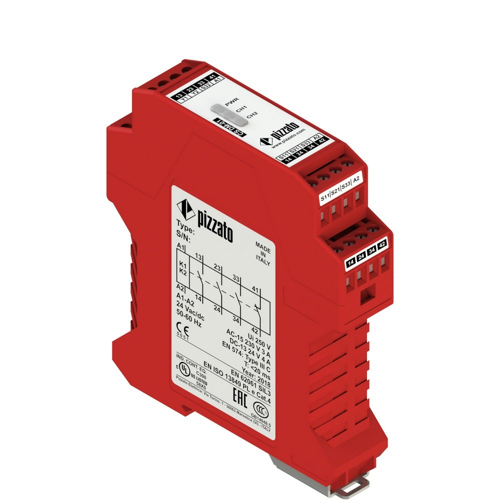 CS DM-01M024 Pizzato Elettrica Защитный модуль 3НО + 1НЗ для двуручного управления, категория IIIC