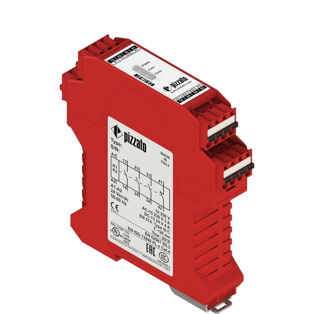 CS DM-01X024 Pizzato Elettrica Защитный модуль 3НО + 1НЗ для двуручного управления, категория IIIC