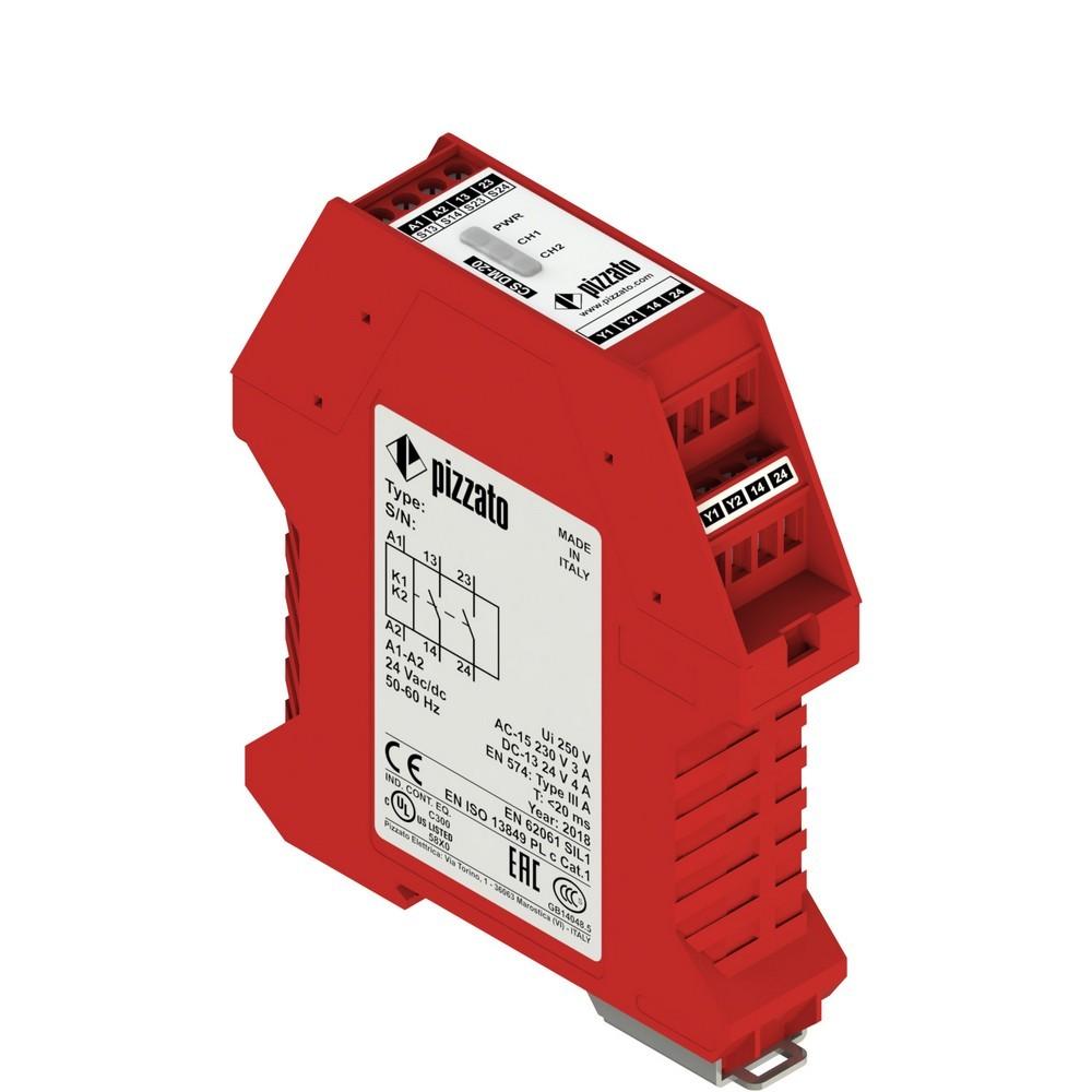 CS DM-20V024 Pizzato Elettrica Защитный модуль для бимануального управления, согласно EN 574 типа III C, 2НО