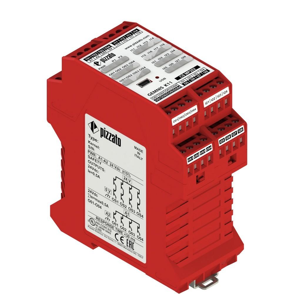 CS MP202M0 Pizzato Elettrica Программируемый защитный модуль многофункциональный, до SIL 3, PLe, Категория 4