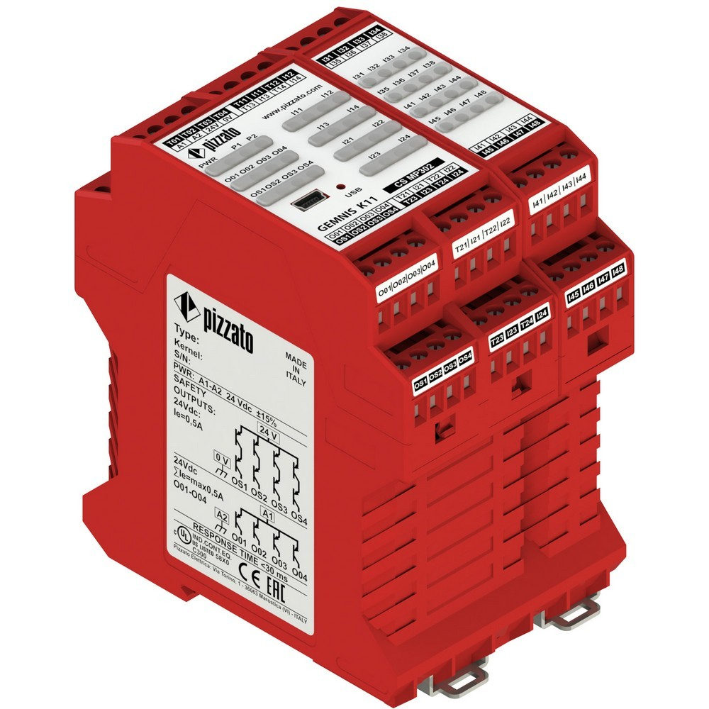 CS MP302M0 Pizzato Elettrica Программируемый защитный модуль многофункциональный, до SIL 3, PLe, Категория 4