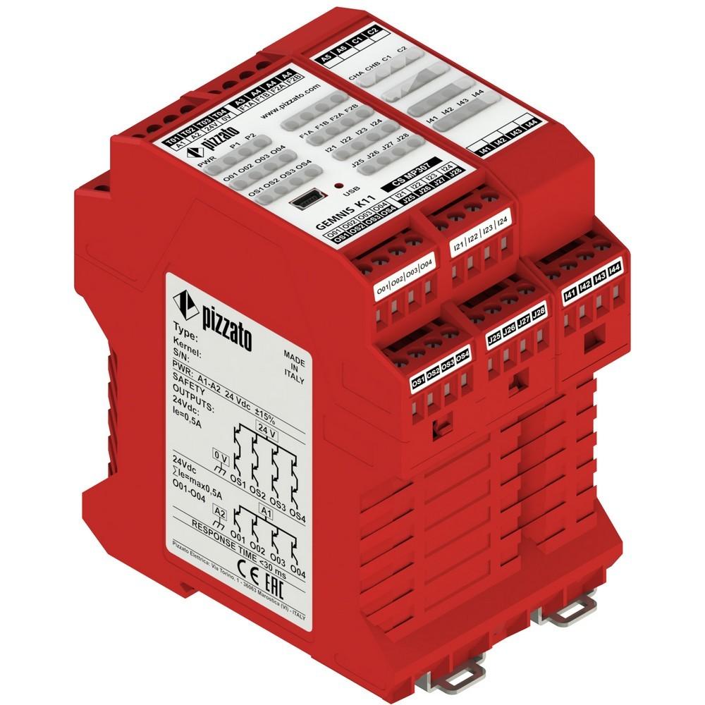 CS MP307M0 Pizzato Elettrica Программируемый защитный модуль многофункциональный, до SIL 3, PLe, Категория 4