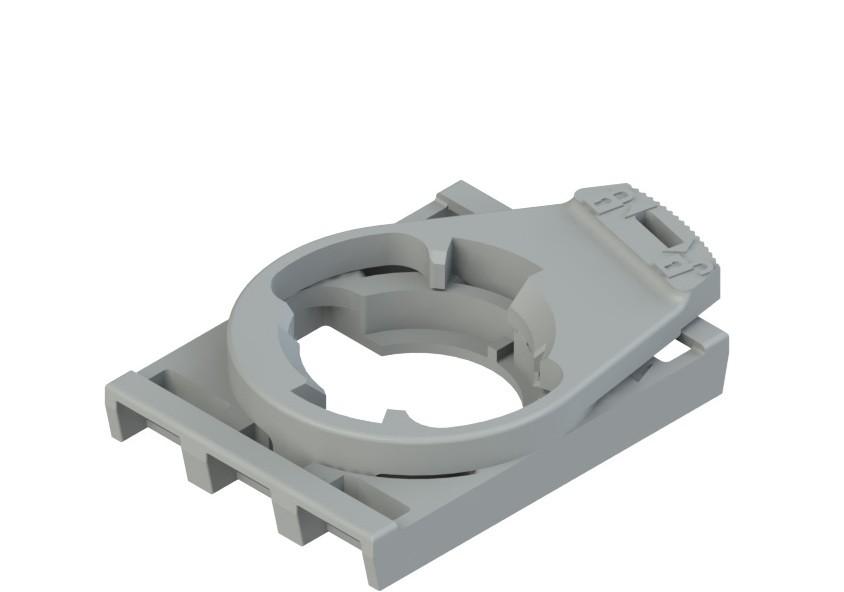 E2 1BAC12 Pizzato Elettrica Монтажный адаптер на 3 слота, ориентированный, для контактных блоков E2 CP и светодиодных блоков E2 LP