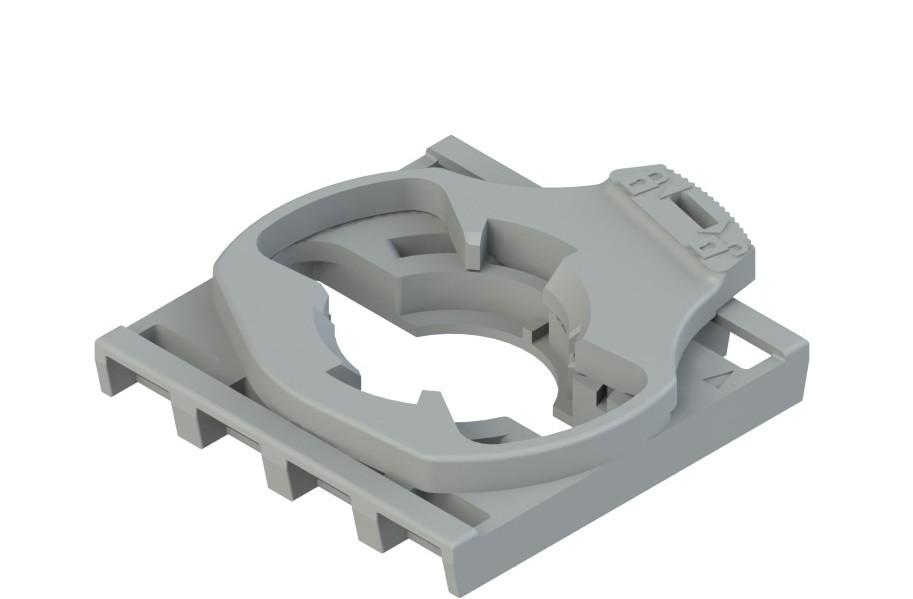 E2 1BAC22 Pizzato Elettrica Монтажный адаптер на 4 слота для контактных блоков E2 CP