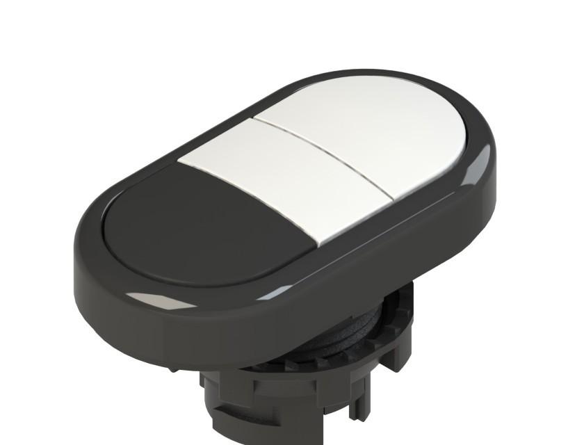 E2 1PDRL10221 Pizzato Elettrica Двойная пониженная плоская кнопка, без маркировки