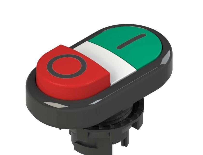 E2 1PDSL1AAAD Pizzato Elettrica Двойная пониженная выступающая кнопка, с маркировкой