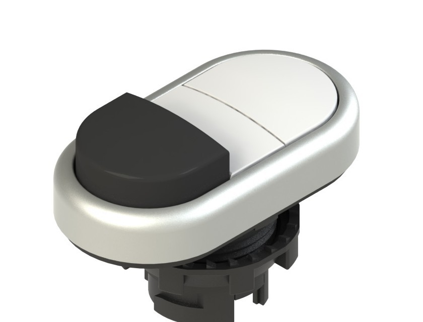 E2 1PDSL90221 Pizzato Elettrica Двойная пониженная выступающая кнопка, без маркировки