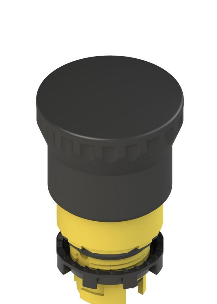 E2 1PEPZ4511 Pizzato Elettrica Черная грибовидная кнопка, двухтактная