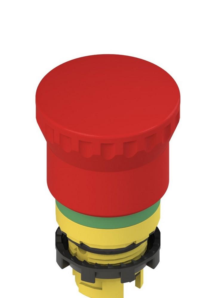 E2 1PEPZ4731-T6 Pizzato Elettrica Двухтактная аварийная кнопка с зеленой маркировочной пунктирной линией