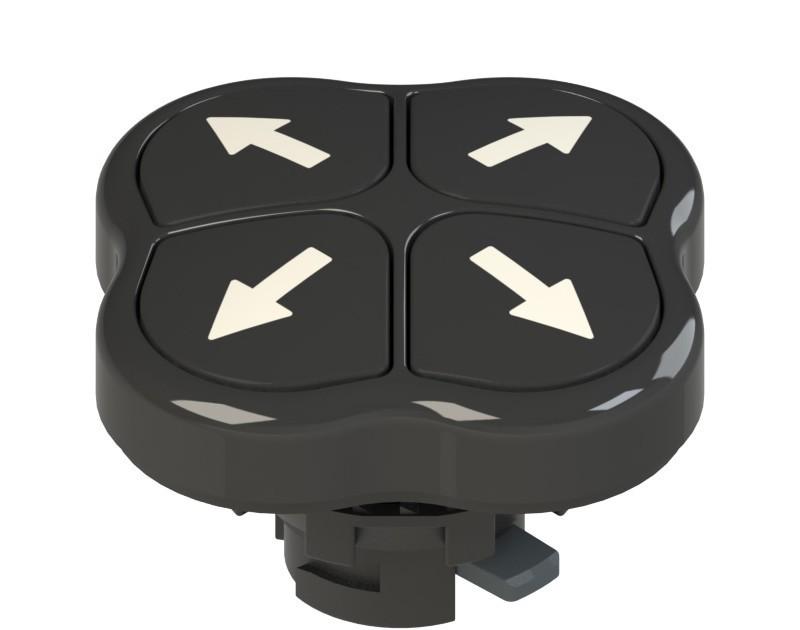 E2 1PQFA1QAAA Pizzato Elettrica Четверная кнопка