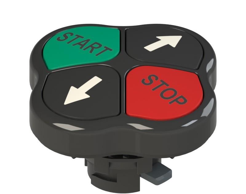 E2 1PQFA1QAAH Pizzato Elettrica Четверная кнопка