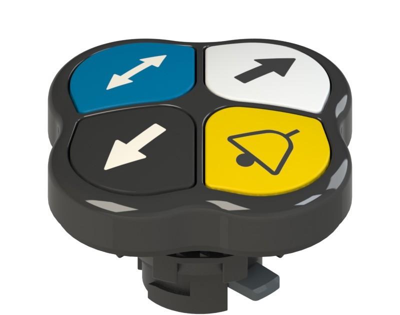 E2 1PQFA1QAAR Pizzato Elettrica Четверная кнопка