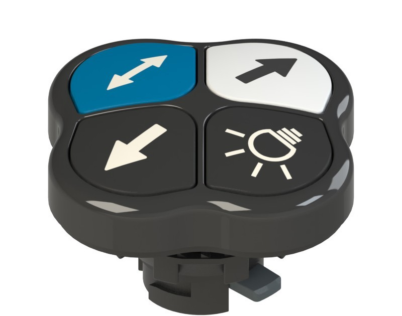 E2 1PQFA1QAAS Pizzato Elettrica Четверная кнопка