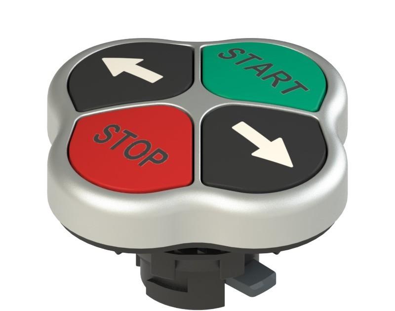 E2 1PQFA9QAAB Pizzato Elettrica Четверная кнопка