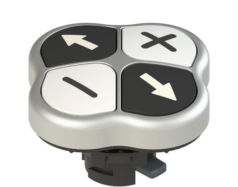 E2 1PQFA9QAAF Pizzato Elettrica Четверная кнопка