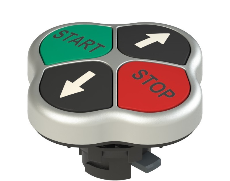 E2 1PQFA9QAAH Pizzato Elettrica Четверная кнопка