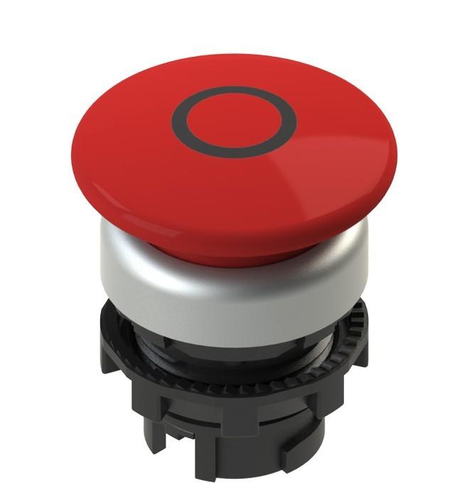 E2 1PL2F349L1 Pizzato Elettrica Красная грибовидная кнопка с подсветкой, с маркировкой