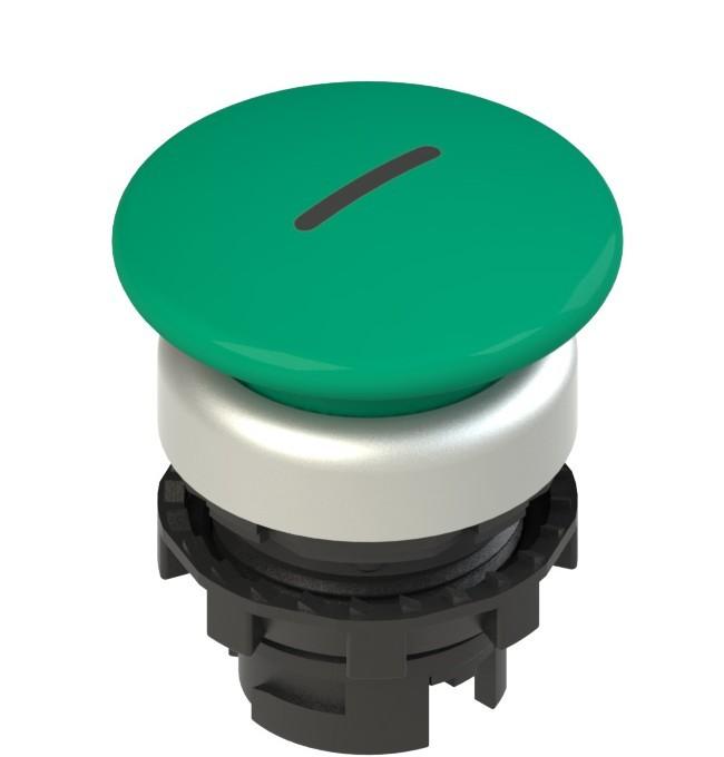E2 1PL2F449L2 Pizzato Elettrica Зеленая грибовидная кнопка с подсветкой, с маркировкой