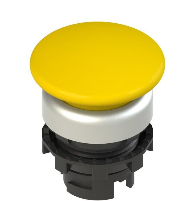 E2 1PL2F5490 Pizzato Elettrica Желтая грибовидная кнопка с подсветкой