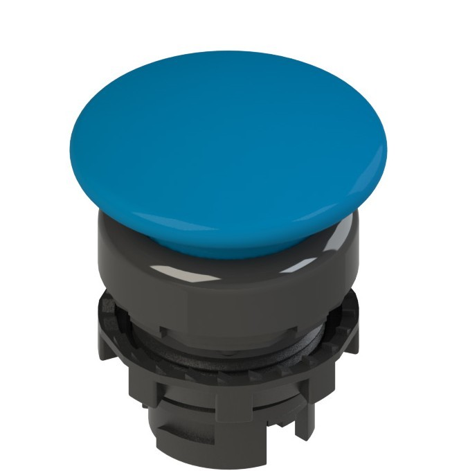 E2 1PL2F6410 Pizzato Elettrica Синяя грибовидная кнопка с подсветкой