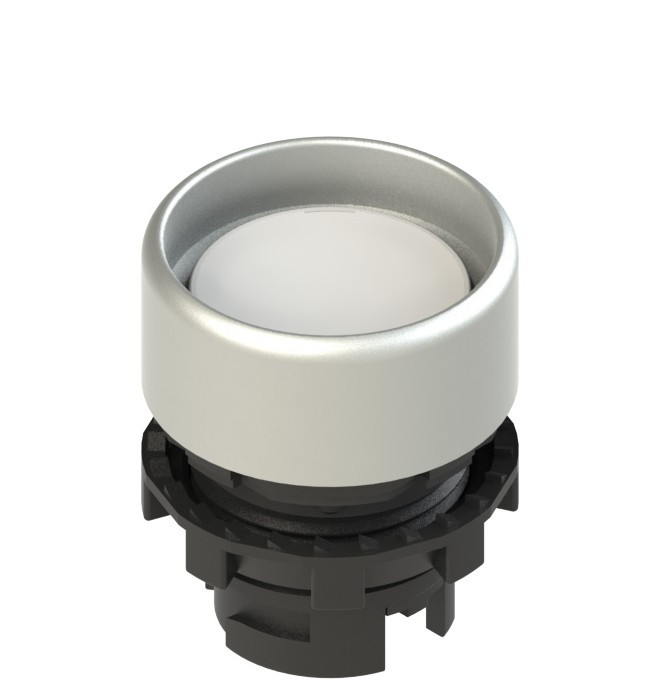 E2 1PL2P2290 Pizzato Elettrica Белая вдавленная кнопка с подсветкой