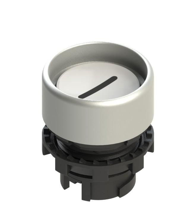E2 1PL2P229L2 Pizzato Elettrica Белая вдавленная кнопка с подсветкой, с маркировкой