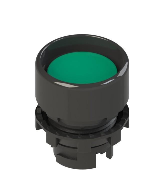 E2 1PL2P4210-T6 Pizzato Elettrica Зеленая вдавленная кнопка с подсветкой