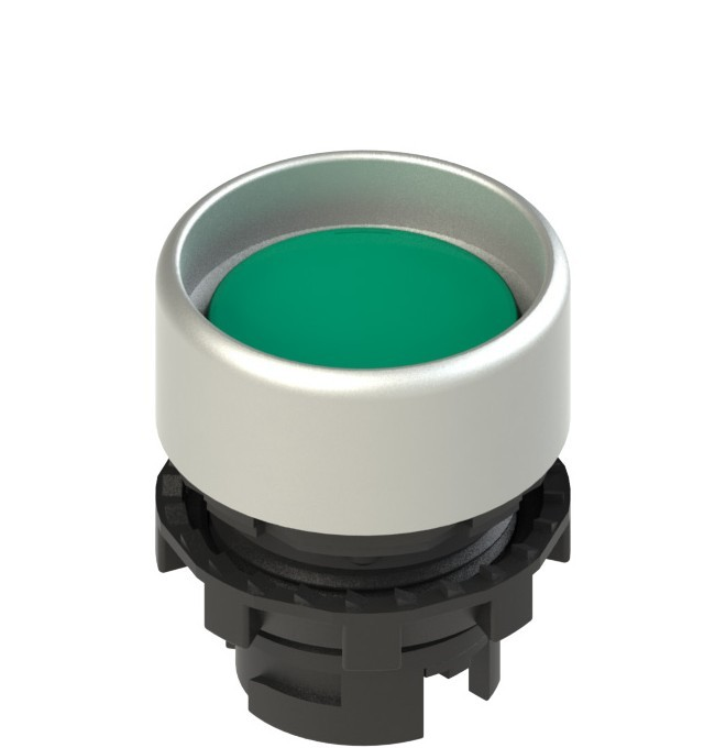 E2 1PL2P4290 Pizzato Elettrica Зеленая вдавленная кнопка с подсветкой