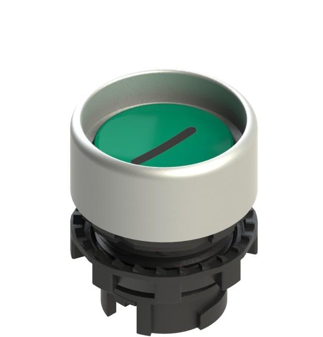 E2 1PL2P429L2 Pizzato Elettrica Зеленая вдавленная кнопка с подсветкой, с маркировкой