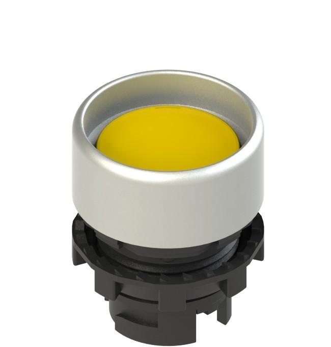E2 1PL2P5290 Pizzato Elettrica Желтая вдавленная кнопка с подсветкой