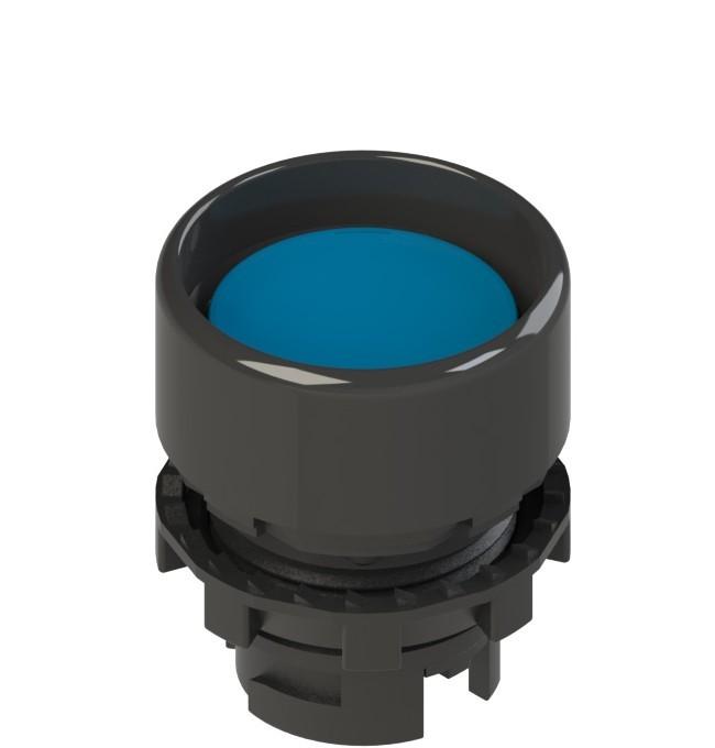 E2 1PL2P6210 Pizzato Elettrica Синяя вдавленная кнопка с подсветкой