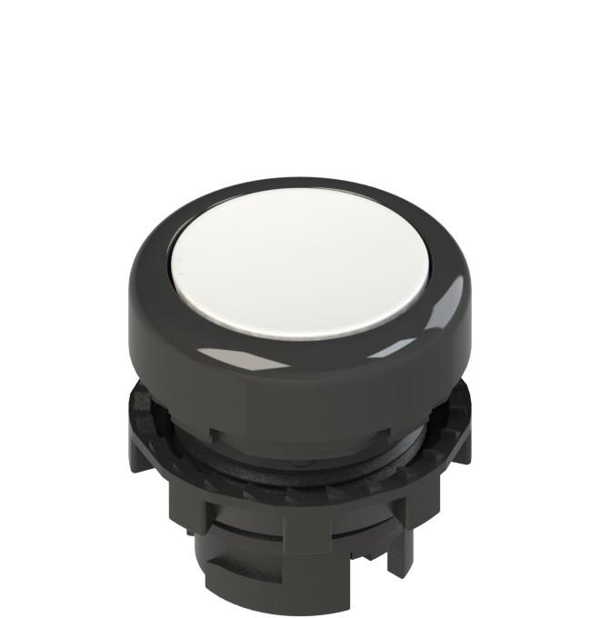 E2 1PL2R2210 Pizzato Elettrica Белая плоская кнопка с подсветкой