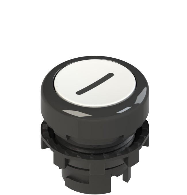 E2 1PL2R221L2 Pizzato Elettrica Белая плоская кнопка с подсветкой с маркировкой