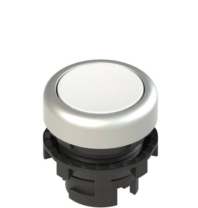 E2 1PL2R2290 Pizzato Elettrica Белая плоская кнопка с подсветкой