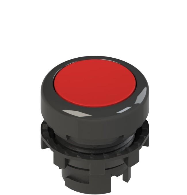 E2 1PL2R3210 Pizzato Elettrica Красная плоская кнопка с подсветкой