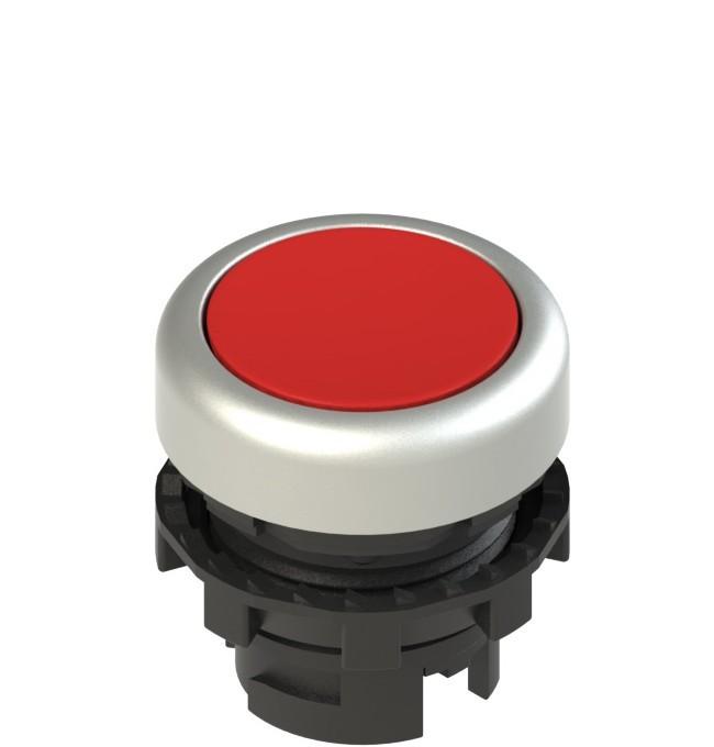 E2 1PL2R3290 Pizzato Elettrica Красная плоская кнопка с подсветкой