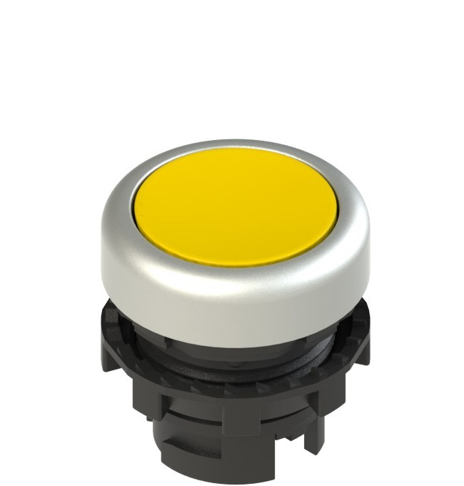 E2 1PL2R5290 Pizzato Elettrica Желтая плоская кнопка с подсветкой
