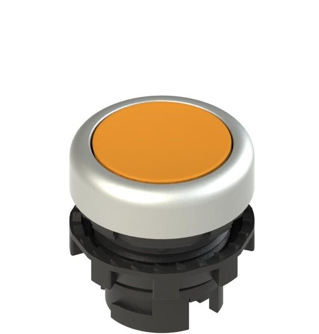 E2 1PL2R8290 Pizzato Elettrica Оранжевая плоская кнопка с подсветкой