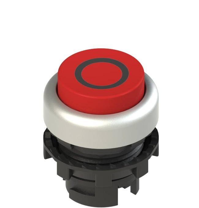 E2 1PL2S329L1 Pizzato Elettrica Красная выступающая кнопка с подсветкой, с маркировкой