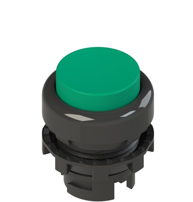 E2 1PL2S4210 Pizzato Elettrica Зеленая выступающая кнопка с подсветкой