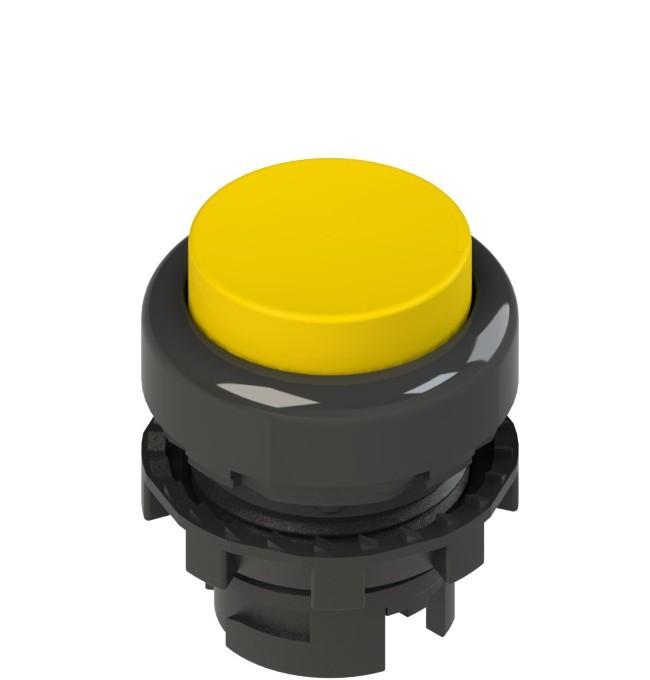 E2 1PL2S5210 Pizzato Elettrica Желтая выступающая кнопка с подсветкой