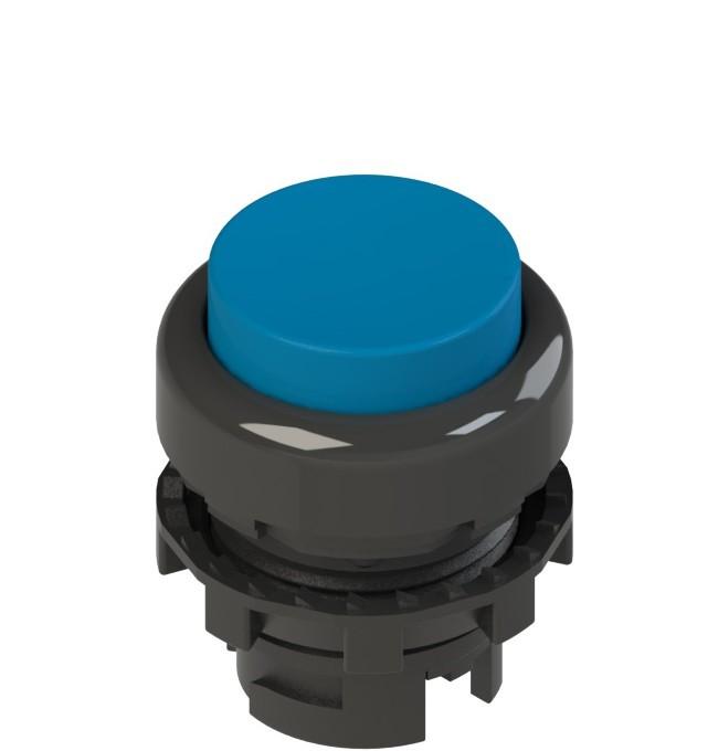 E2 1PL2S6210 Pizzato Elettrica Синяя выступающая кнопка с подсветкой