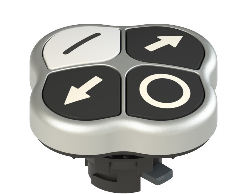 E2 1PQFA9QAAL Pizzato Elettrica Четверная кнопка