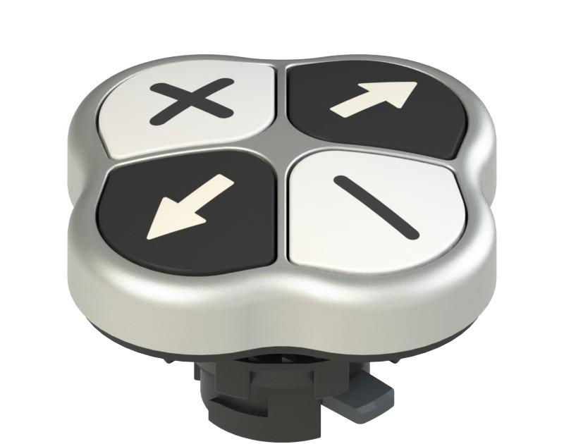 E2 1PQFA9QAAM Pizzato Elettrica Четверная кнопка