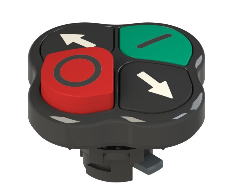 E2 1PQLA1QAAD Pizzato Elettrica Четверная кнопка